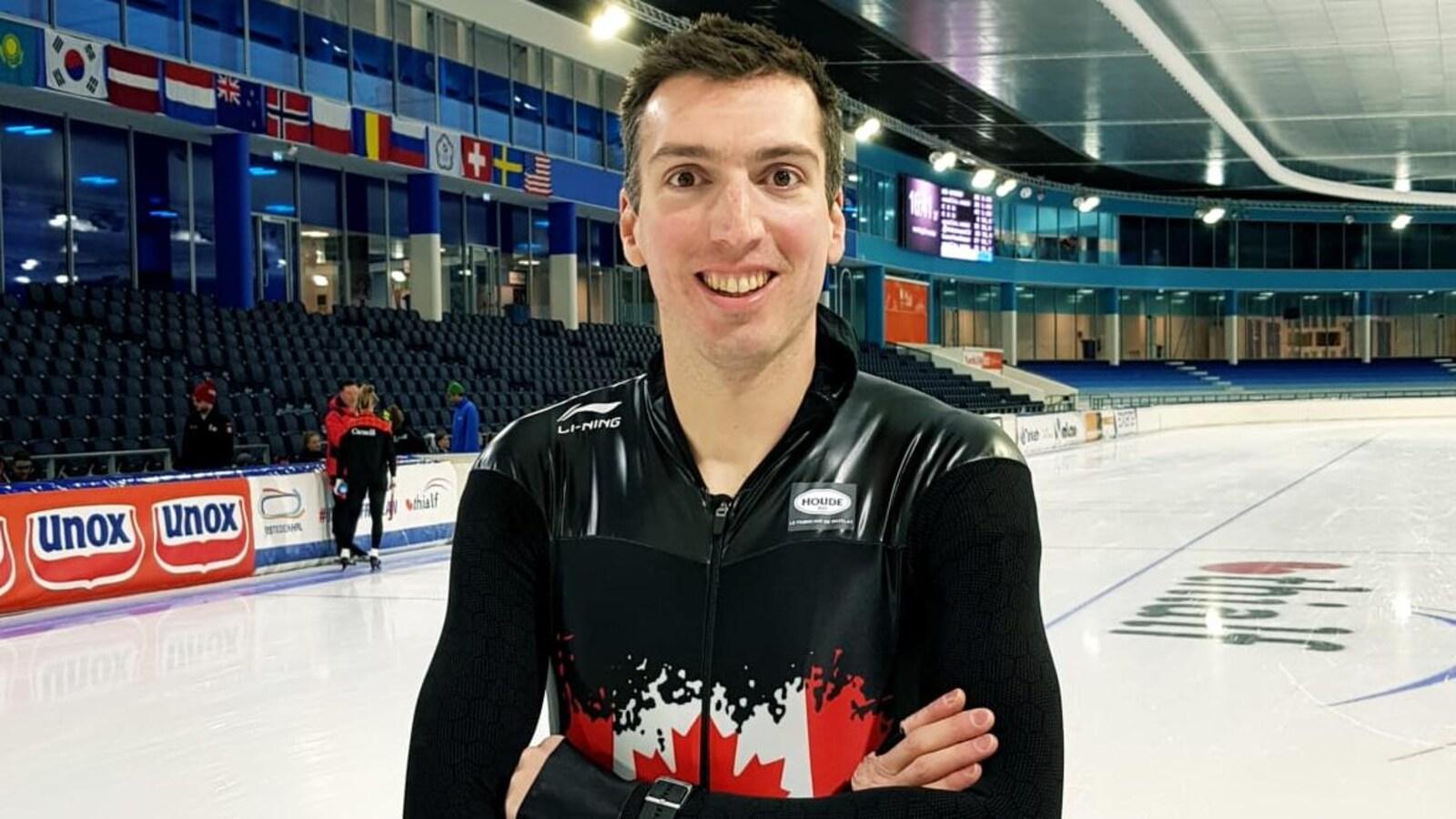 Alex Boisvert-Lacroix à l'entraînement aux Pays-Bas