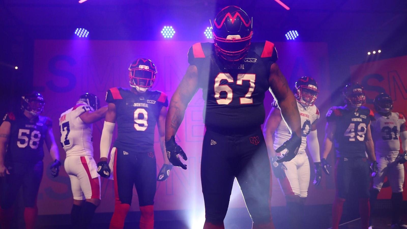 Les nouveaux uniformes des Alouettes