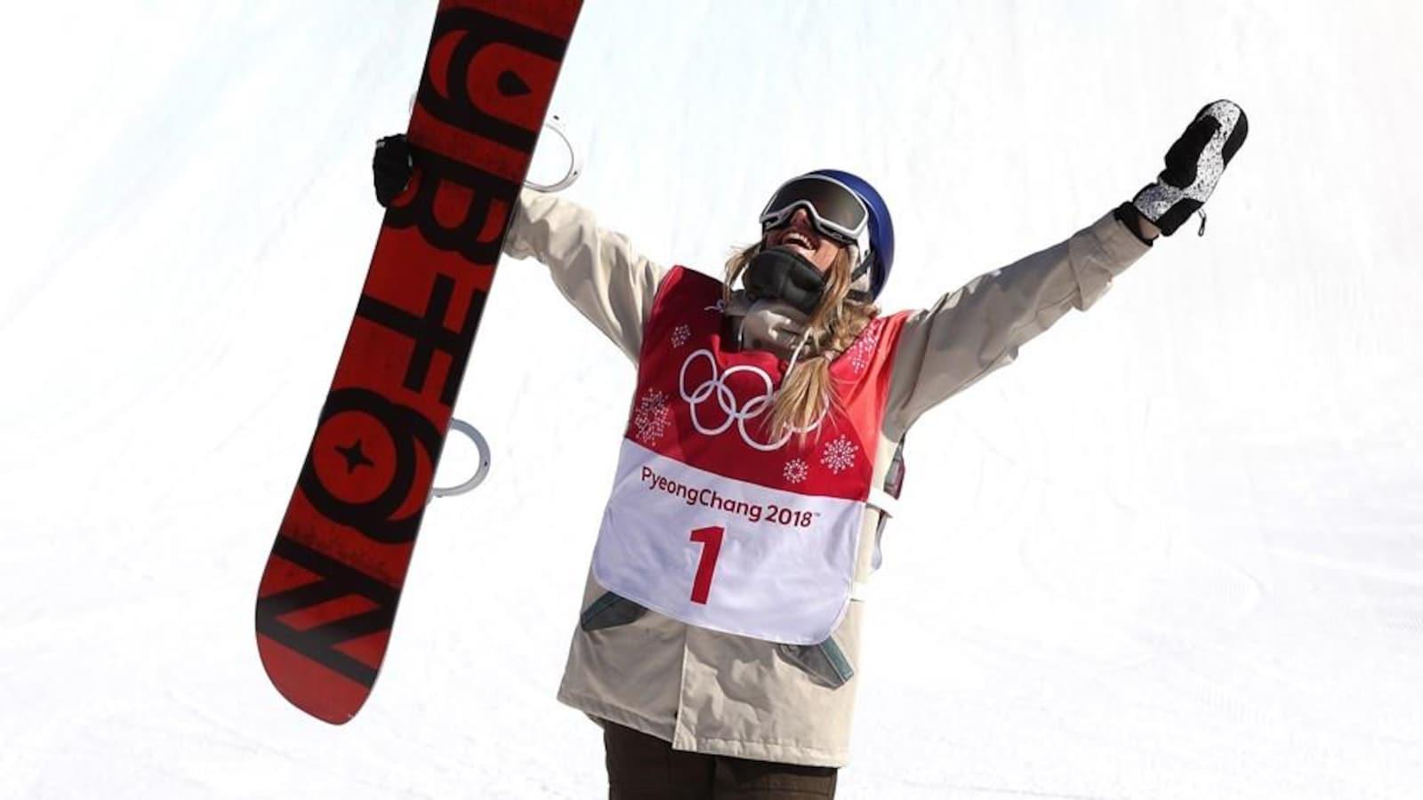 Anna Gasser est championne olympique de grand saut (big air) aux Jeux olympiques de 2018