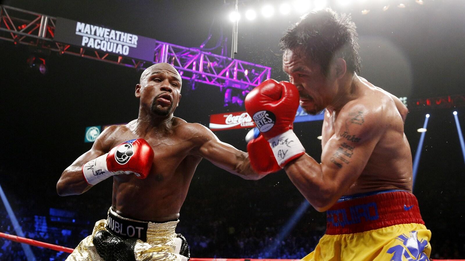 Le combat entre Floyd Mayweather et Manny Pacquiao en mai 2015 est le plus rémunérateur de l'histoire de la boxe.