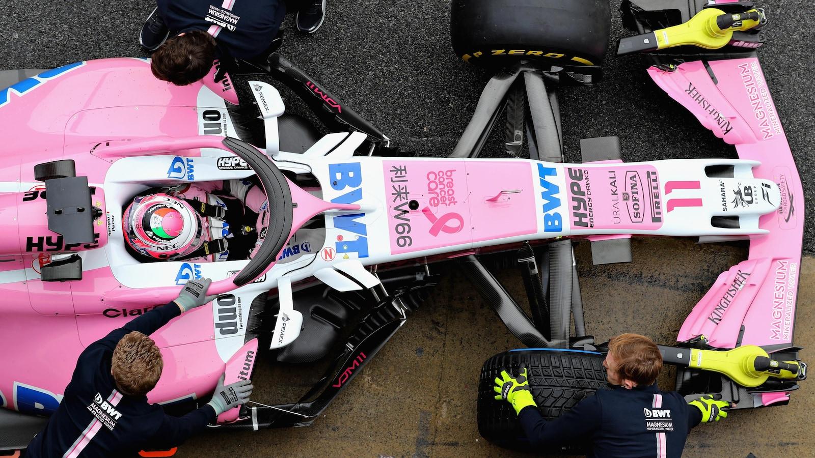 Sergio Perez dans la Force India VJM11 de la saison 2018