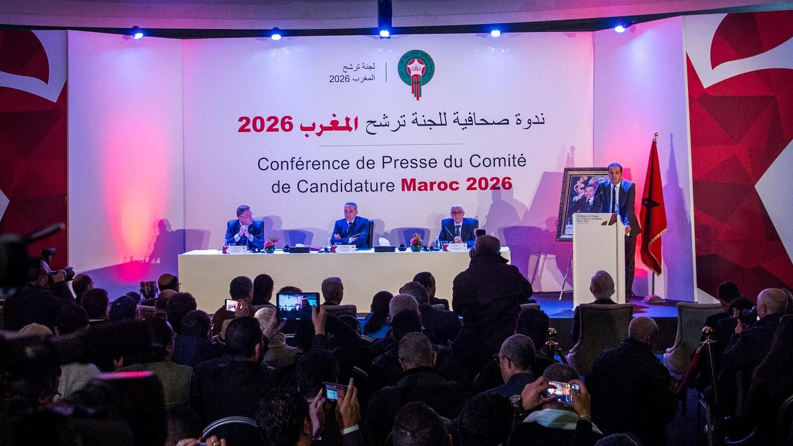 La conférence de presse du comité de candidature à l'organisation de la Coupe du monde de 2026