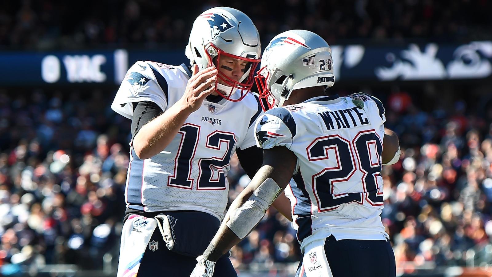 Tom Brady et James White