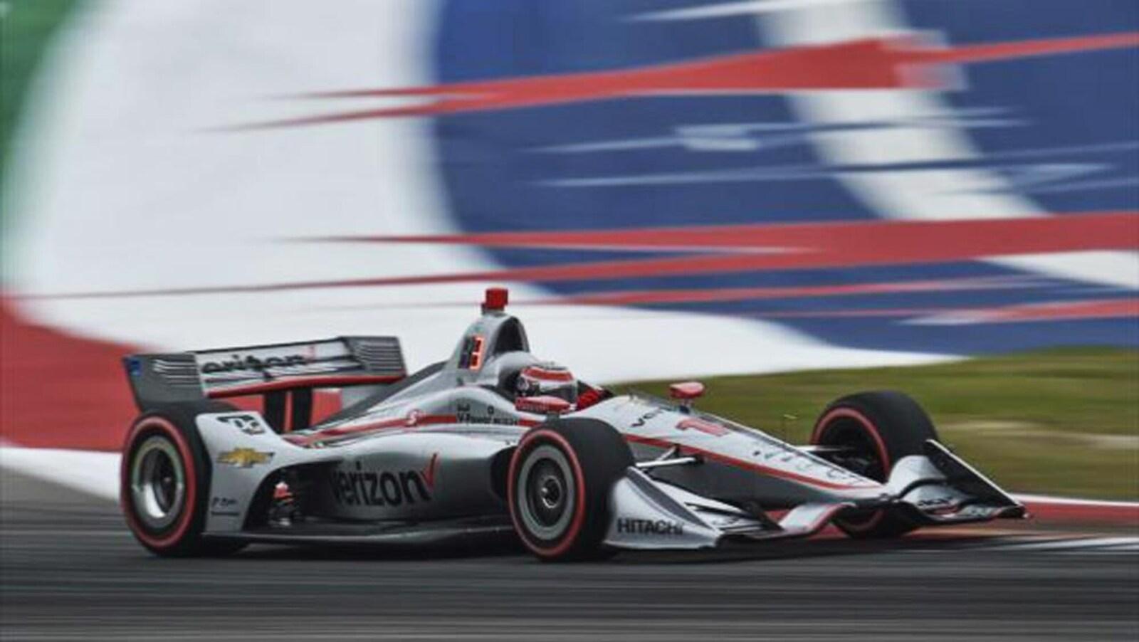 Will Power (Penske) sur le circuit des Amériques à Austin au Texas