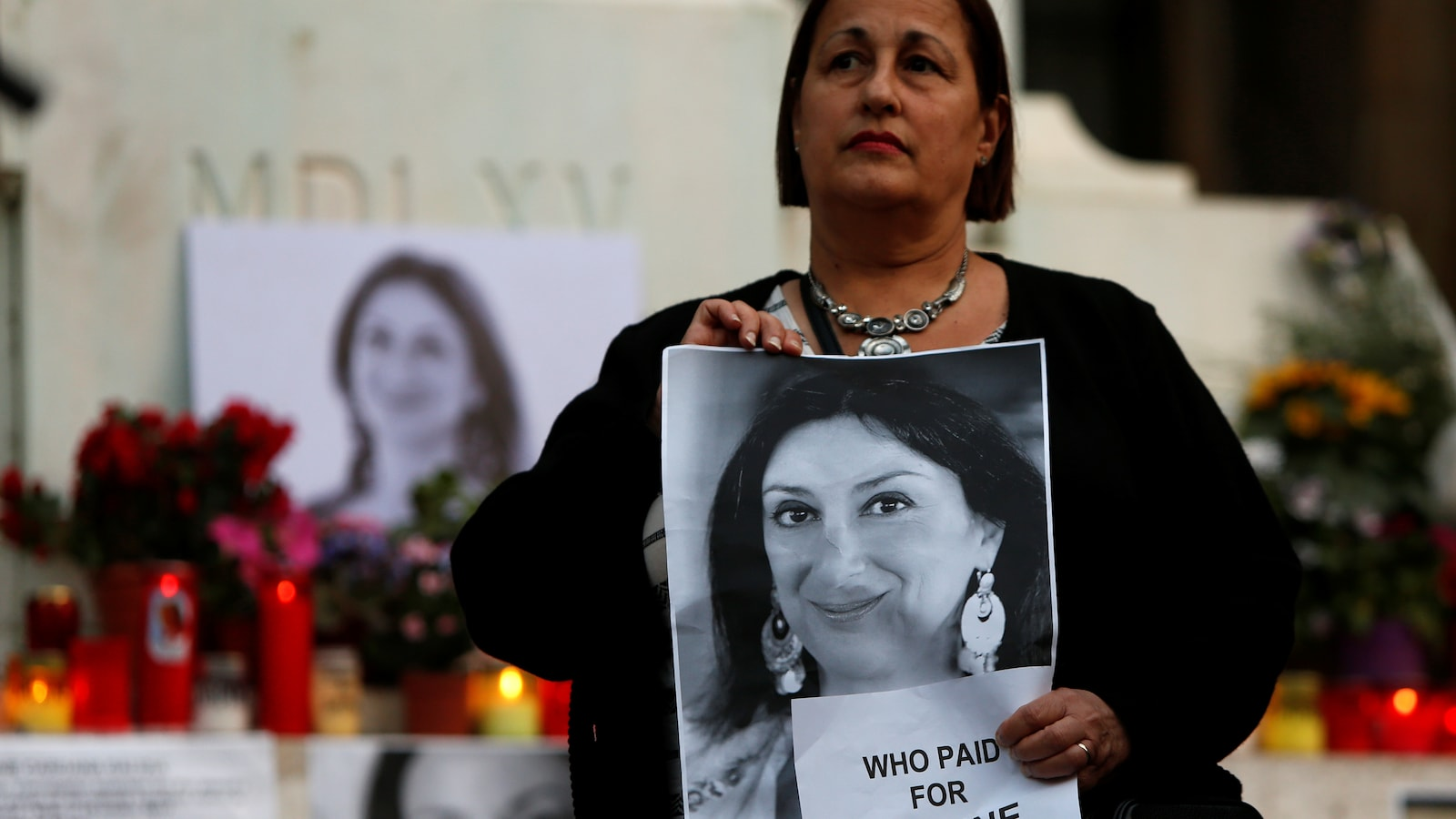 Une veillée aux chandelles s'est tenue à La Vallette, à Malte, 6 mois après l'assassinat de la journaliste Daphne Caruana Galizia.