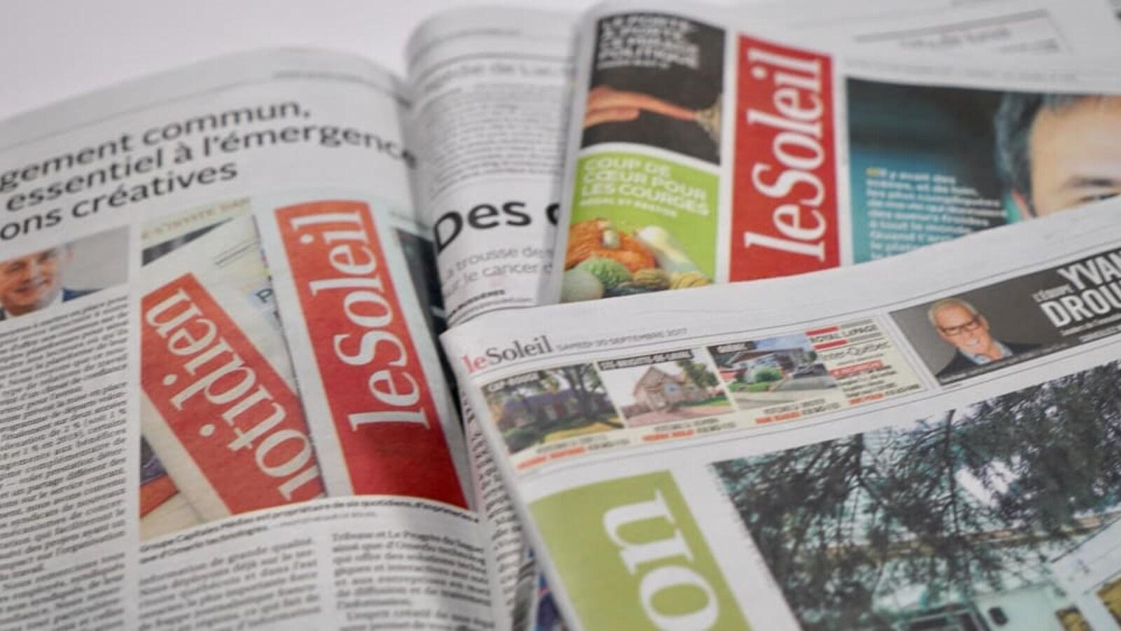 Des éditions du quotidien Le Soleil