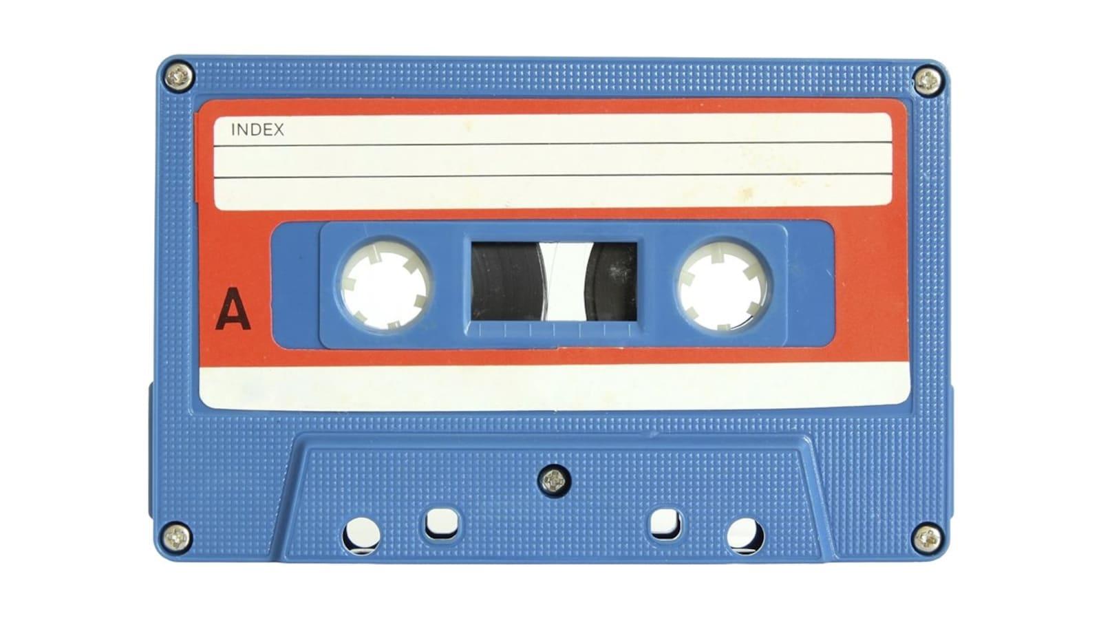 Une cassette audio.