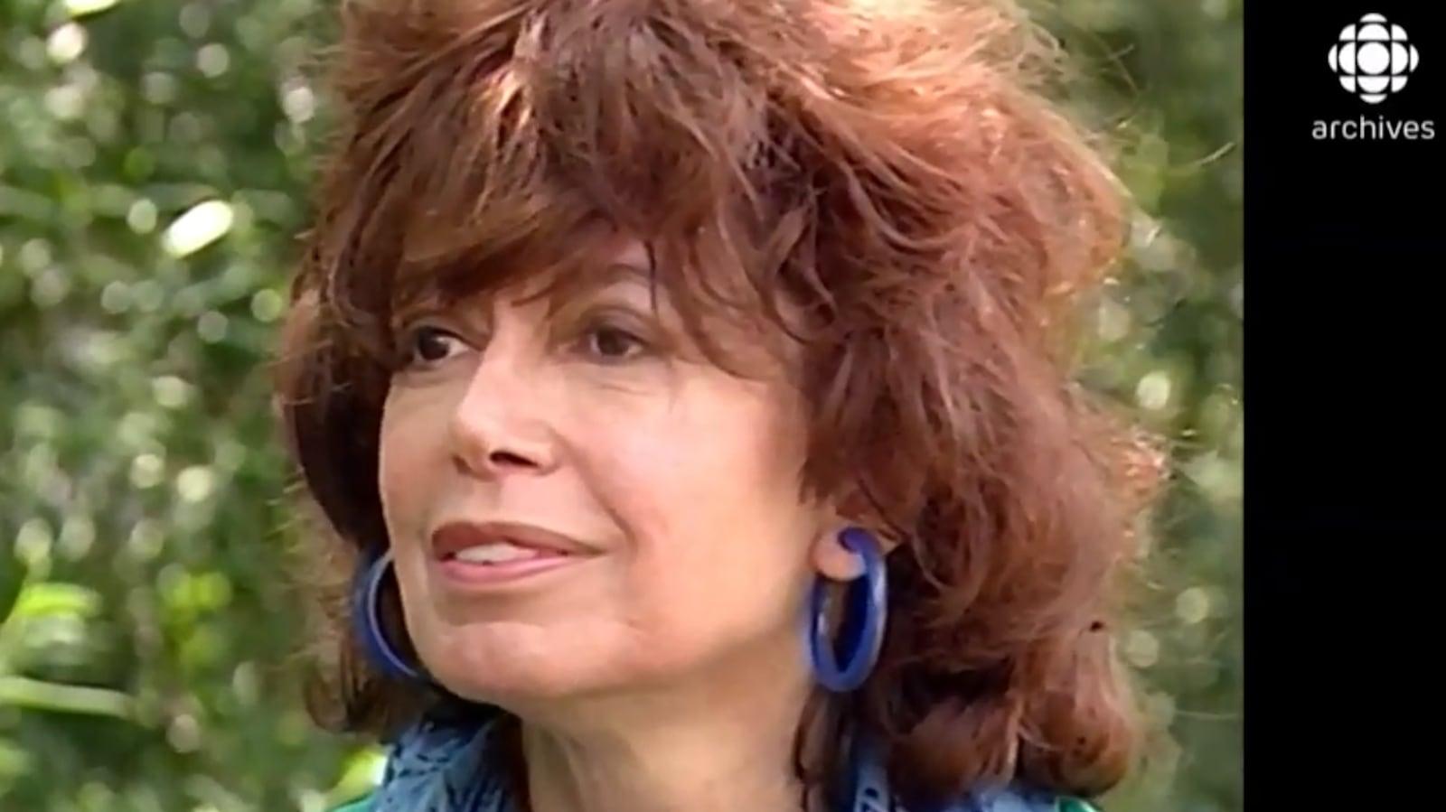 Pauline Julien en entrevue dans les années 1990.