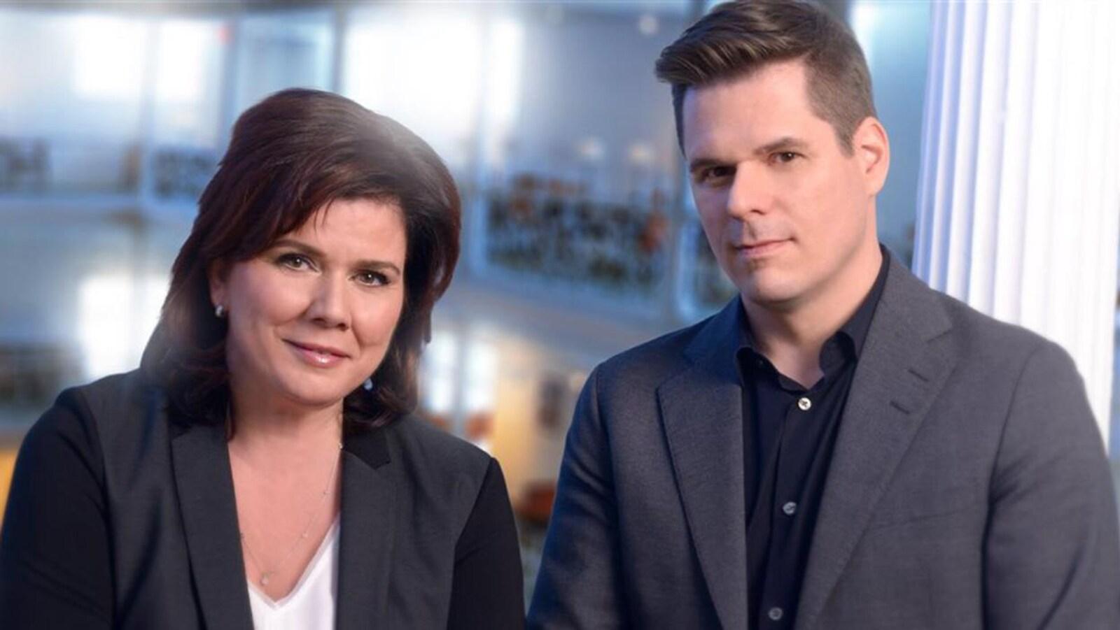 Marina Orsini et Patrick Lagacé.