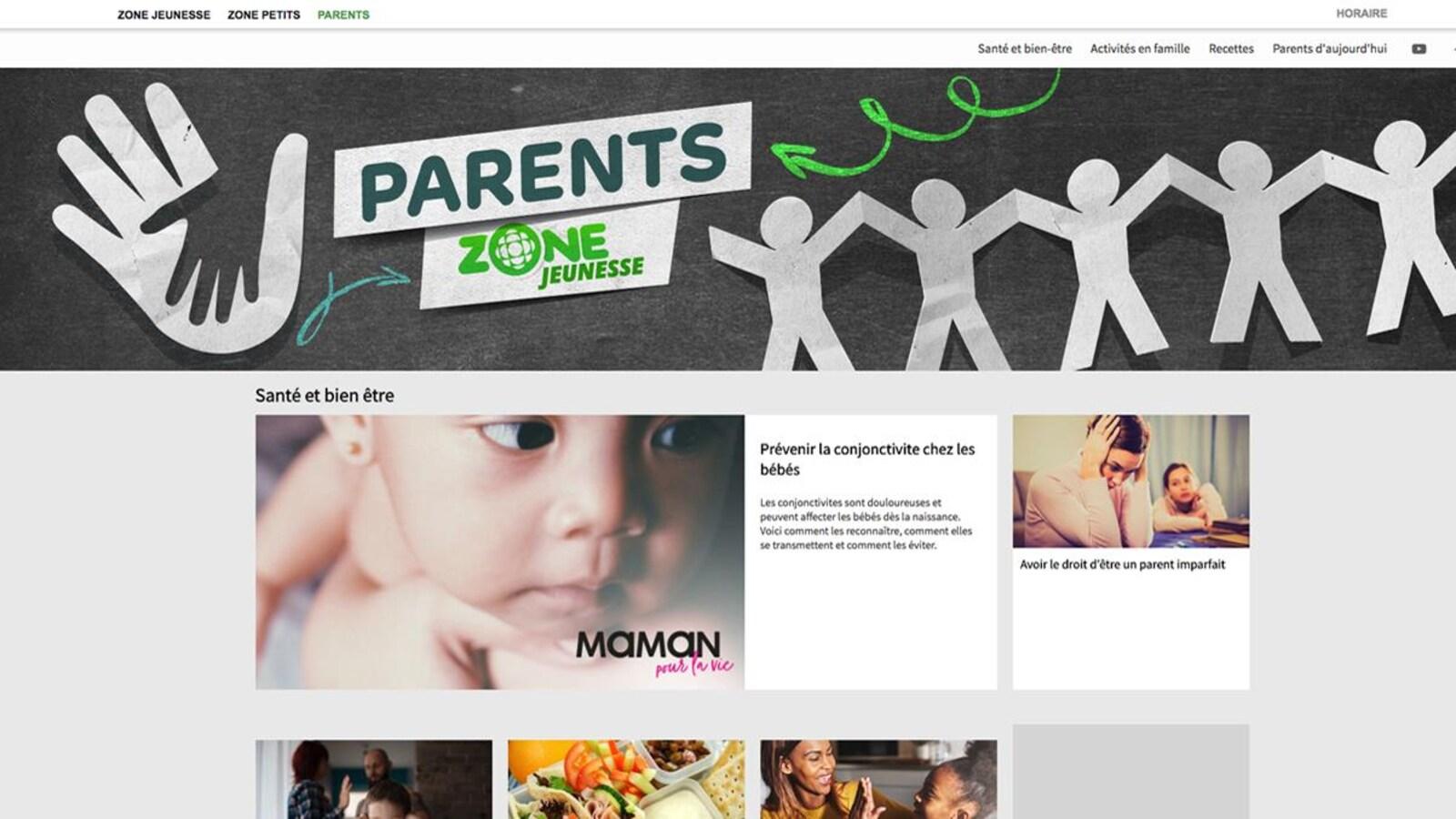 Photo de la nouvelle section : parents, familles, bébés