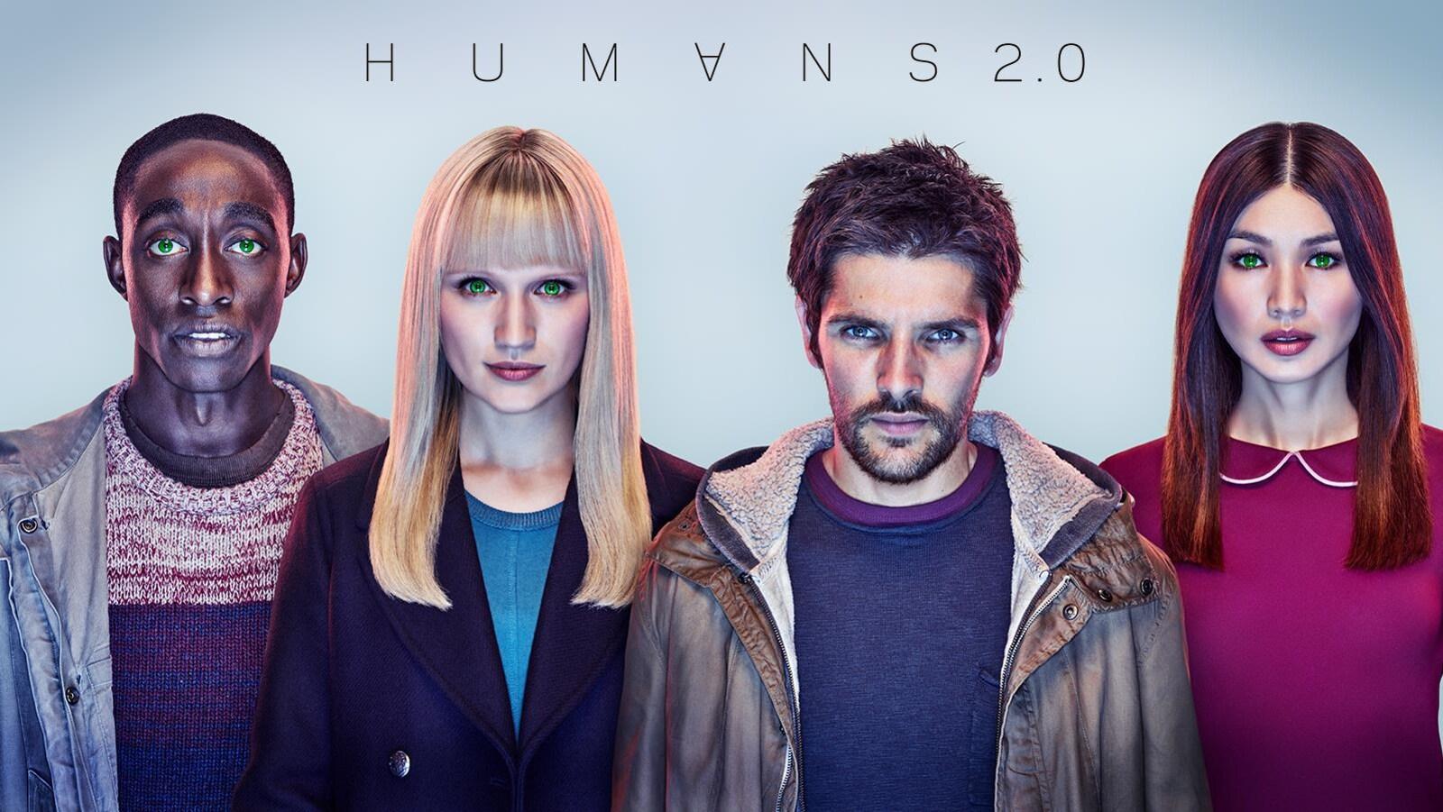 Affiche officielle de la saison 2 de la série Humans