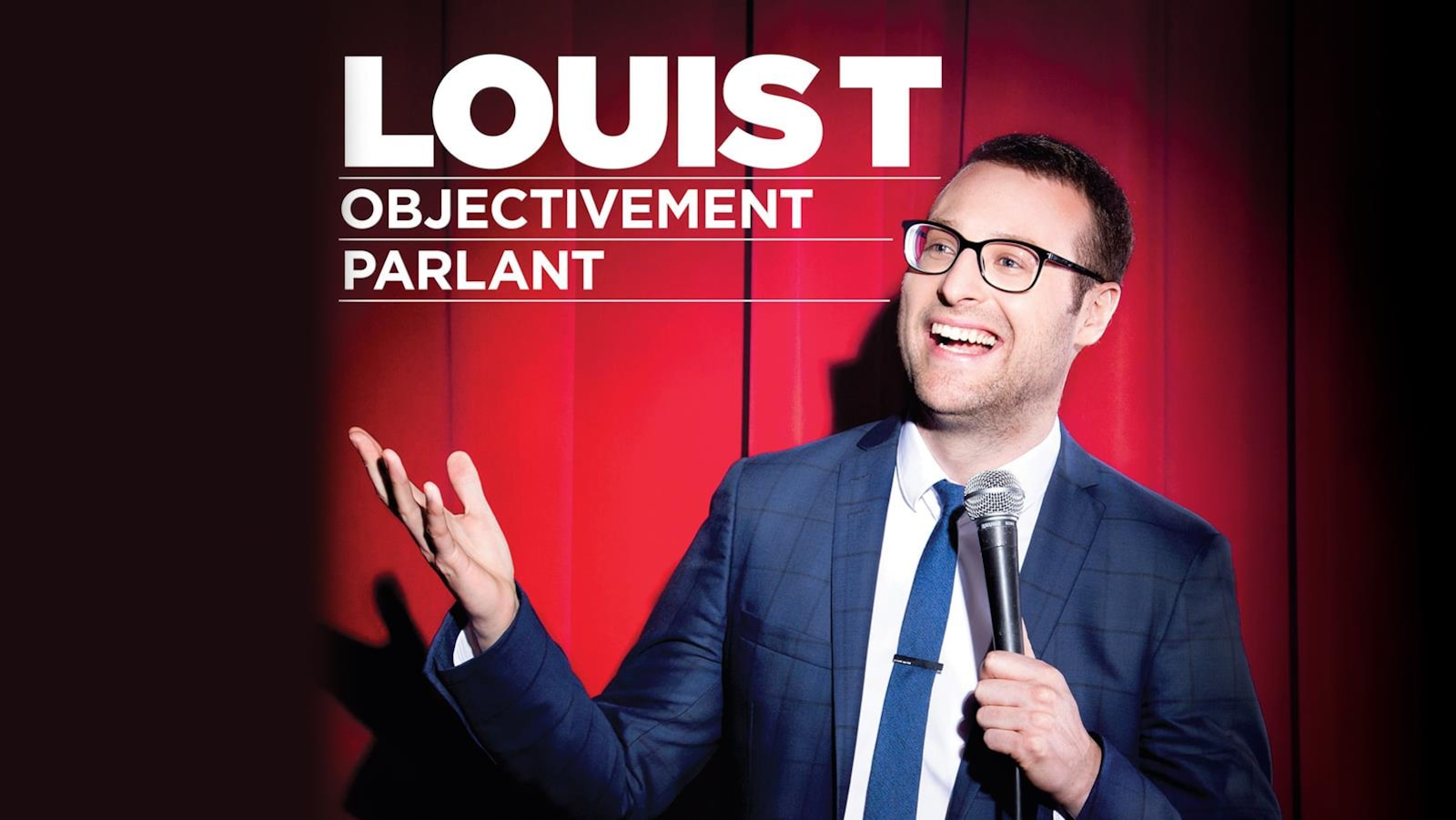 Affiche officielle du premier spectacle de Louis T : Objectivement parlant