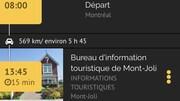 Capture d'écran d'un itinéraire créé par le site web