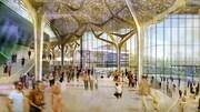 Dessin conceptuel d'un intérieur pour un Art Commons rénové au centre-ville de Calgary.