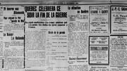 Page du journal de l'Action catholique du 11 novembre 1918