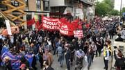 Les manifestants dénoncent notamment la facture de 600 millions de dollars engendrée par la tenue du G7.
