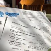 Une facture de l'entreprise Wawanesa