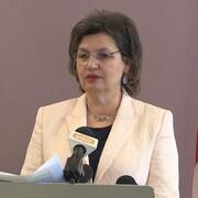 Fatima Houda-Pepin en conférence de presse.