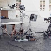 Un plateau de tournage.