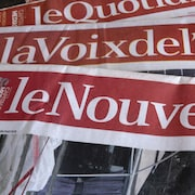 Des exemplaires de journaux de Groupe Capitales Médias (GCM).