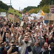 Manifestation pour le climat à Berlin.