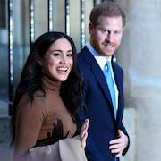 La duchesse et le duc de Sussex à Londres le 7 janvier 2020.