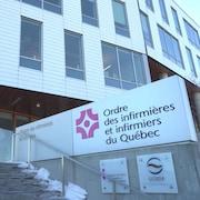 Les bureaux de l'Ordre des infirmières et infirmiers du Québec qui veut changer les règles pour obtenir le statut d'infirmière praticienne spécialisée