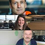 Phil Comeau, Chloé Breault et Jean-Marie Nadeau