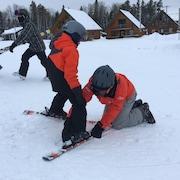 Leçon de ski alpin au Mont-Vidéo de Barraute, en Abitibi