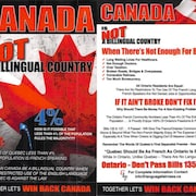 Sur les documents, uniquement en anglais, on peut notamment lire que « le Canada n'est pas un pays bilingue ».