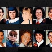 Photo des 14 femmes victimes.