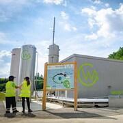 Une installation de valorisation de biogaz.