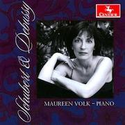 """La pochette de l'album """"Schubert & Debussy"""", de Maureen Volk (2008)."""