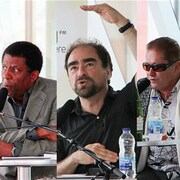 Dany Laferrière, Michel Rabgliati, Jean-Paul Daoust et Kim Thuy