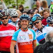 Pierre Lavoie au départ du Grand défi