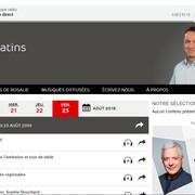 Capture d'écran de la page d'émission de Y a des matins.