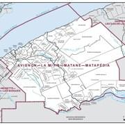 Les nouvelles limites de la circonscription Avignon-La Mitis-Matane-Matapédia