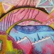 Un dessin aux multiples couleurs et diffentes formes.