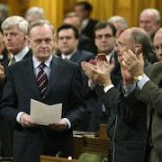 Le premier ministre Jean Chrétien à la Chambre des communes, le 17 mars 2003.