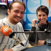 Mathieu Ouellette et Manon R. Guérin en studio