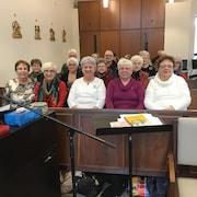 Les membres de la chorale de la paroisse du Sacré-Coeur de Nipissing Ouest