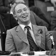 Jean Chrétien, Bill Davis et Pierre Elliott Trudeau, le 5 novembre 1981