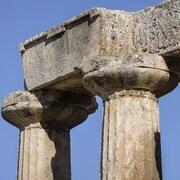 Les vestiges d'un temple grec