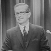 Daniel Johnson en conférence de presse le 25 septembre 1968