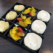 La recette de suprême d'agrumes, crémeux à l'orange et au chocolat blanc et mousse à la banane de Manon.