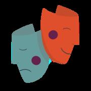 2 masques de théâtres
