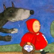 Couverture du conte Le petit chaperon rouge inspirée de l'histoire des frères Grimm