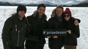Marc à Paul à Jos, Raphaël Butler, Jean-François Breau et Sophie Villeneuve sur le Fish Lake au Yukon.