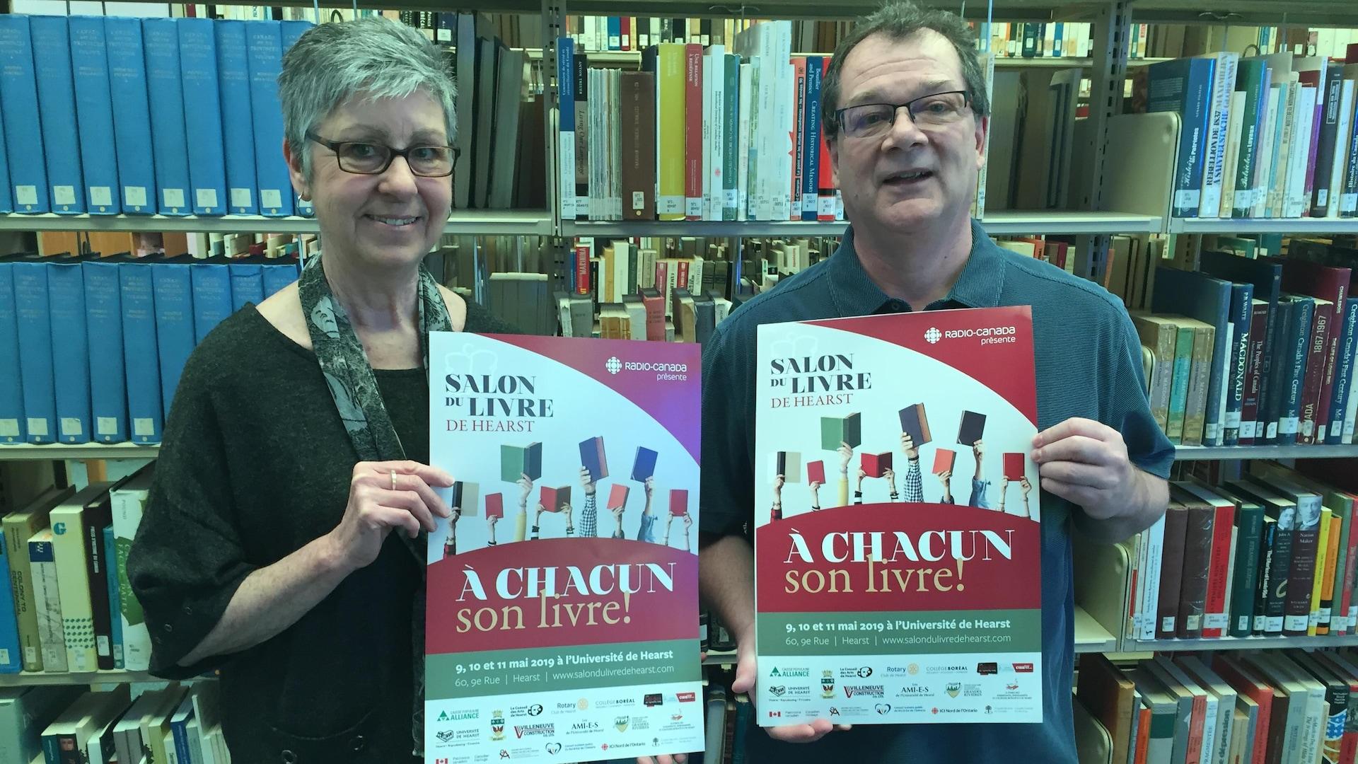 Suzanne Rheault et Jean-Pierre Boutin du Salon du livre de Hearst.