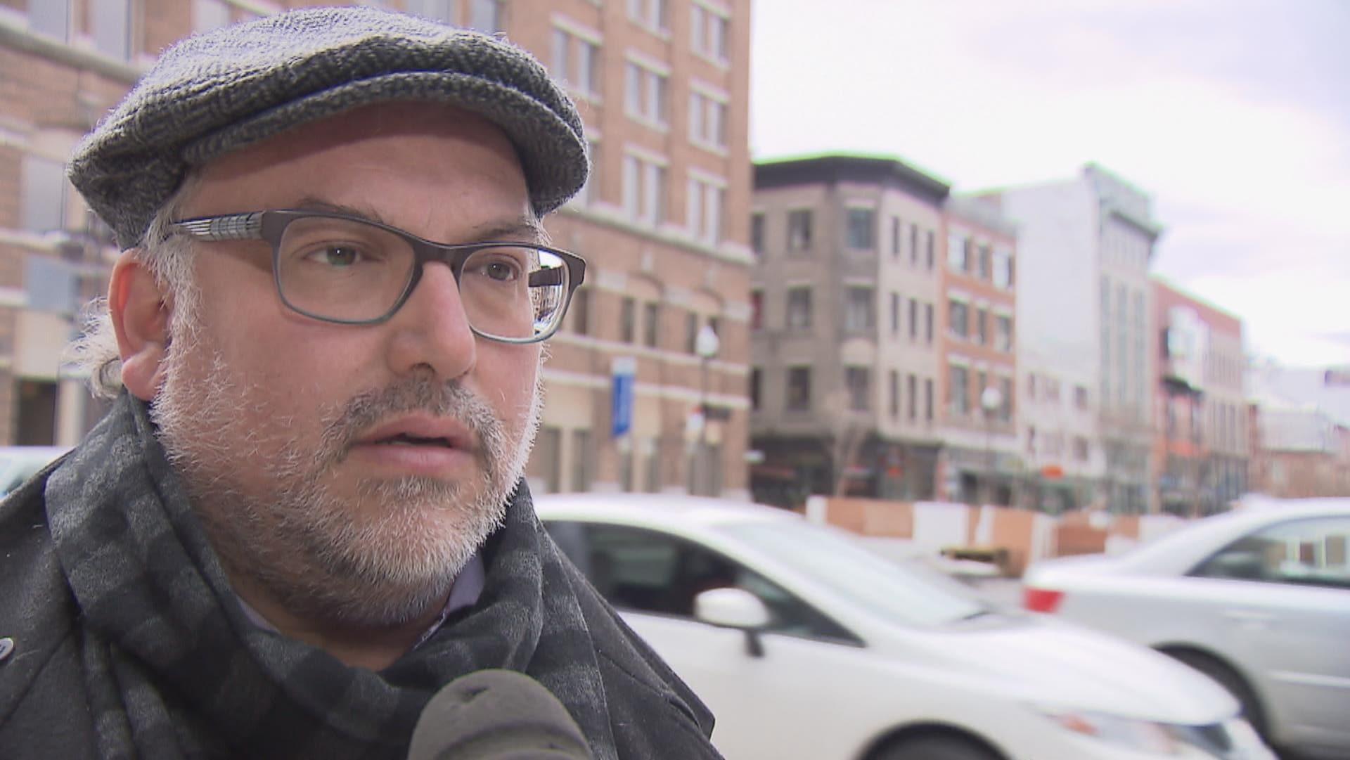 Antoine Tanguay, président des Éditions Alto, lors d'une entrevue à Québec